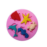 Marine Animals Silicone Fondant Mold Cake Decorating Chocolate Mold