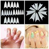 500pcs de la forma del color natural de acrílico blanco consejos falsa uñas uñas llenas