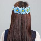 Boho Style Daisy Bunga Bunga Rambut Garland Headbrand Hair Band