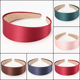4CM Wide Lady Satin Headwear Headbrand Hair Hoops