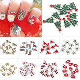 10pcs 3D Christmas Glitters Strass DIY Nagel Kunst Dekoration