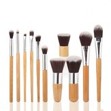 MAANGE 11 st Bamboo Handle Makeup Ögonskugga Blush Concealer Brush Set