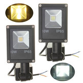 12V 10W PIR Motion Sensor LED Flood Light IP65 Warm/Cold White Light
