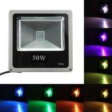 50w rgb LED luz de inundação com controle remoto lavagem ao ar livre lâmpada de jardim