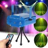 Mini R & G Otomatik / Ses Kontrolü LED Lazer Sahne Işığı Projektör Uzakdan Kumanda ile Xmas Parti KTV Disco için