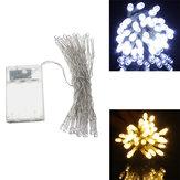 AA Batarya Mini 30 LED Cool / Sıcak Beyaz Christmas String Peri Işıklar