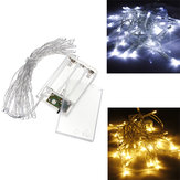 AA Batteri Mini 20 LED'er Cool / Warm White Christmas String Fairy Lights