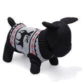 Deer Pet Dog Rajutan Sweater Bernapas Lebih Tahan Dr Pakaian