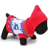 Inverno outwear camisola de malha respirável cão veado animal de estimação azul vermelho