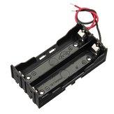 DIY DC 7.4V 2-slot dubbele serie 18650 batterijhouder accubak met 2 kabels ROHS-certificering