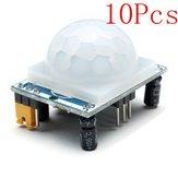 10pcs hc-SR501 módulo sensor infravermelho humano, incluindo lente