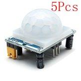 5Pcs HC-SR501 Human Infrared Sensor Module Including Lens