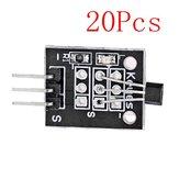 20Pcs DC 5V KY-003 Hall Magnetic Sensor Módulo Geekcreit para Arduino - produtos que funcionam com placas oficiais Arduino