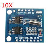 10 stuks I2C RTC DS1307 AT24C32 Real Time Clock Module voor AVR ARM PIC SMD