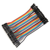 40pcs 10cm Female To Female Jumper Cable Dupont Wire For