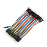 40pcs 10cm Male To Male Jumper Cable Dupont Wire For Arduino