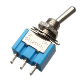 10szt. SPDT 3 Piny Toggle Switch AC 125V 6A ON / ON 2 Position
