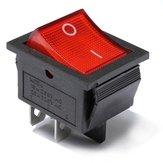 15Pcs Red Light 4 Pin DPST ON-OFF Rocker Boat Switch 13A/250V 20A/125V