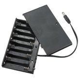 DIY 12V 8 x AA-batterijhouder Doos met draadschakelaar