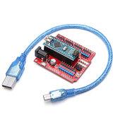 Geekcreit® ATmega328P Arduino Compatible Nano V3 + Nano Shield Expansion Board Kit