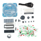 DIY DS1302 Rotation LED Electronic Clock Kit 51  Learning Board