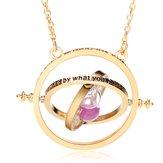 Время Turner Вращающиеся Песочные часы Кулон Ожерелье Золото Посеребренное