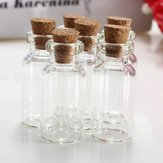 2 stuks Mini Clear Wishing Message Drift Glasflessen Flesjes Met Cork