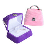 Mini Velvet Jewelry Holder Earring Ring Handbag Box Case