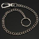 Silber langkettige Haken Schlüsselring aus Metall Gürtel Schlüsselanhänger