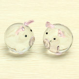 Crystal Glass Couple Pig Cute Cute Ornament Ornament Lovers Lucky Pig Gifts
