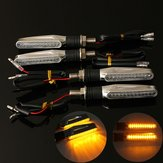 4szt Motocykl LED Turn Signal Indicator Amber Light