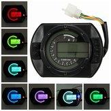 Motor KMH LCD Digitale Odometer Speedometer Tachometer Met 7 Kleuren Achtergrond