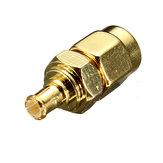 Sma plugue macho para MCX Conector do adaptador macho plugue coaxial rf