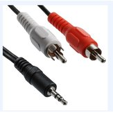 3.5mm to AV RCA Audio Adapter Cable for Ipod MP3