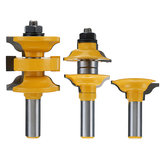 Drillpro 3pcs 1/2 Inch Shank Entrance Rod and Ogee Router Bit Inner Door Assorted R / S Router Bit Woodworking Tools