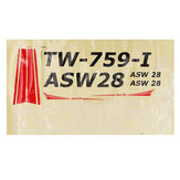 Volantex ASW28 ASW-28 V2 Sloping RC Airplane Spare Part Decals