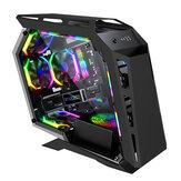 SAHARA MAGICSNAKE D900MiNi Oyun Bilgisayarı Kılıf Özel Şekil Akrilik Yan Şeffaf Panel MICRO-ATX / ITX RGB Bilgisayar PC Kılıf USB 3.0 / USB 2.0 / HDD / SSD Masaüstü PC Bilgisayar için