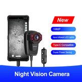 Ulefone 1080P HD Gece Görüş Kamera 4 ADET Kızılötesi LED Işıkları Gece Görüş Kaydedici Minyatür Kamera
