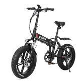 LAOTIE® FT5 20 Zoll Fettreifen 48V 10Ah 500W Zusammenklappbares elektrisches Moped-Fahrrad 35 km / h Höchstgeschwindigkeit 80-90 km Kilometerstand E-Bike