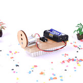 DIY Wooden Sweeping Robot Model Kits Physical inventions Experiment Kits Electric Science Creative STEM Educational Toy