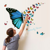 Honana DX-367 Colorful Butterfly Wall Sticker Removível Frigorífico Home Decor Applique Quarto Arte