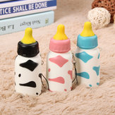 Squishy Milk Nursing Bottle Toy Śliczny Kawaii Phone Bag Strap Pendant 10x4cm