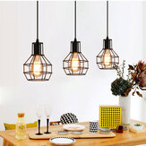 Industrial Vintage Metal Cage Fixture Ceiling Pendant Light Hanging Lamp Shade Without Bulb