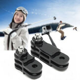 2Pcs Black Long and Short Straight Joint Adapter for Gopro Hero 5 4 3 Plus 3 2 1 Camera