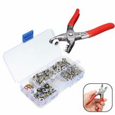 Fastener Snap Pliers Camp Craft Tool Sewing Craft with 110 Kits Set Press Studs
