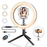 ब्लिट्जवॉल्फ® BW-SL3 10 इंच Dimmable एलईडी रिंग लाइट तिपाई स्टैंड USB प्लग TikTok यूट्यूब फोन क्लिप के लिए लाइव स्