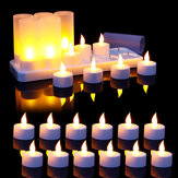 12PCS Flameless LED Candle Light Rechargeable Flickering Tea Lamp for Birthday Party US Plug AC110V