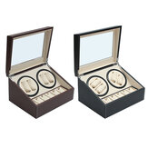 Automatic 4+6 Watch Winder Rotator Storage Case Watch Box