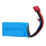 Wltoys 7,4 В 1500 мАч 25C 2S Lipo Батарея T Plug для 144001 A959-B A969-B A979-B 1/18 RC Авто