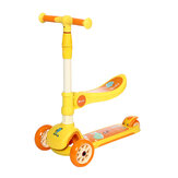 DOUFIT SC-01 Kick Scooter for Kids with Seat Scooter Light up 3 Wheels with Adjustable Handlebar for Boys & Girls Ages 2-6
